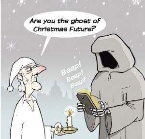 TW161 – Humour Card Ghost of Christmas Future